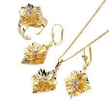set of gold aliexpress buy fashion jewelry set 18k white gold filled