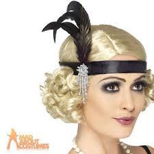 feather headband flapper feather headband black fancy dress charleston 20s