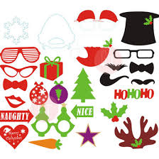 Christmas Photo Booth Props Christmas Party Photobooth Props 27 Designs Ready Made Give Fun