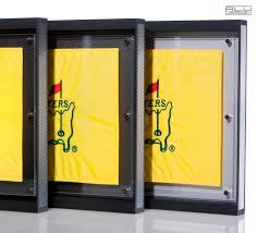 3x5 Flag Display Case With Certificate Golf Flag Display Frame Golf Flag Holder Golf Flag Case