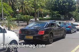 new bentley sedan all new flying spur spotted on the street crewe craft