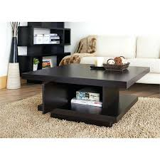 espresso wood coffee table square coffee table with drawers furniture of square coffee table in