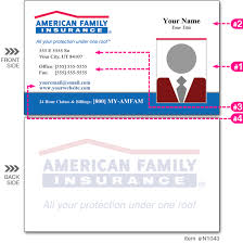 One Hour Business Cards American Family Insurance Business Cards