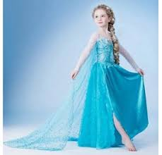 Anna Frozen Costume Cosplay Costumes Princess Children Elsa Anna Frozen Dresses White