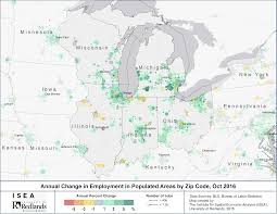 Chicago Zip Codes Map by Slowdown In Us Job Growth Hits All Regions Isea