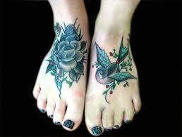 amazing rose traditional tattoo for foot real photo pictures