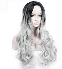 pictures of black ombre body wave curls bob hairstyles yhair long wave synthetic hair black gray ombre middle part wigs for