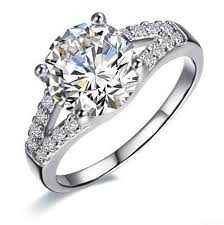 cheap real engagement rings for aliexpress buy wedding bands 2ct sona synthetic diamonds
