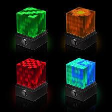 supernova led light show bluetooth speaker cube the green