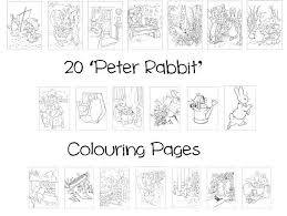 peter rabbit colouring book pack 20 a4 sheets