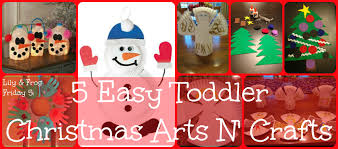 lily u0026 frog friday 5 5 easy toddler christmas arts n u0027 crafts