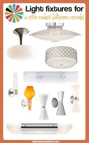 designer bathroom light fixtures 17 bathroom lighting fixtures for a retro modern bathroom remodel