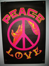 free black light posters and free shipping original peace and love black light poster