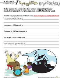hyperbole worksheets for middle worksheets
