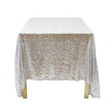 discount wedding supplies sequin rectangle tablecloth 90 x 132 silver 405007 wholesale