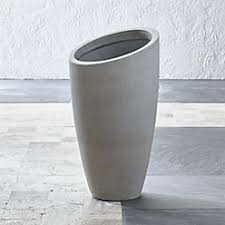 Tall Galvanized Planter by Bronze Tall Tapered Planters Crate And Barrel