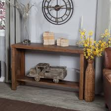 Distressed Sofa Table by Belham Living Brinfield Rustic Console Table Walmart Com