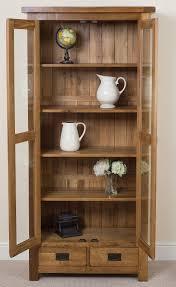 rustic wood display cabinet cotswold oak display cabinet oak furniture king