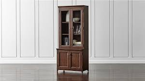 Shelves With Glass Doors by Harrison Cherry Bookcase With Glass Doors Crate And Barrel