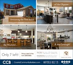 special new home opportunities coastal community builders