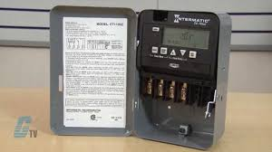 intermatic et1100 series 24 hour time switch timing relay youtube