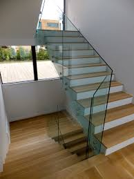 Glass Stair Handrail Decorate Glass Stair Railing Glass Stair Railing Decoration