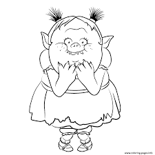 print ugly bridget from bergens trolls coloring pages free