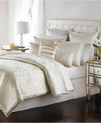 Pixel Comforter Set White And Gold Bed Set 5562
