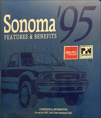 1995 s 10 pickup blazer sonoma jimmy repair shop manual set chevy