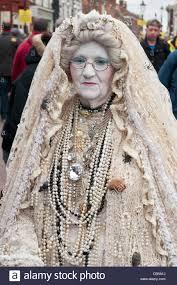dressed in character miss havisham at dickens christmas