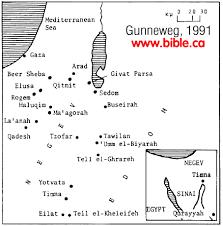 negev desert map edomite negbite and midianite pottery from the negev desert