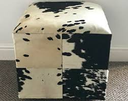 Cowhide Chairs And Ottomans Cowhide Ottoman Etsy