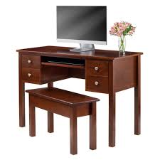 Sauder Graham Hill Computer Desk With Hutch Autumn Maple by Amazon Com Winsome 3 Piece Emmett Writing Desk With Storage Bench