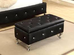 Diy Tufted Storage Ottoman Overwhelming Upholstered Tufted Storage Bench Ideas A White Tufted