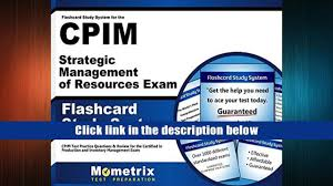 favorite book flashcard study system for the cpim strategic