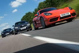 type of bmw cars porsche 718 cayman s vs bmw m2 vs jaguar f type battle of the