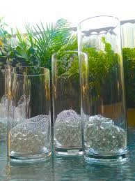 Cylinder Clear Glass Vases Interior Decoration Floral Gift Baskets Events Candles 3