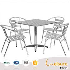 Square Bistro Table And Chairs Popular Outdoor Cafe Cheap Bar Furniture Sets Aluminum Bistro