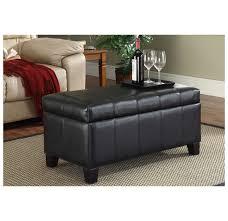 whi bella storage ottoman black 402 449bk modern furniture canada
