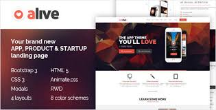 themeforest u2013 alive u2013 responsive bootstrap html5 app landing page