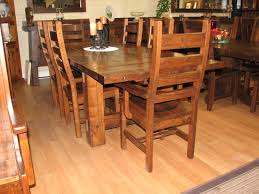 timber dining room table collection with trestle style base