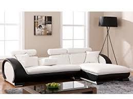 canapé d angle commandeur assise blanche et contour noir angle