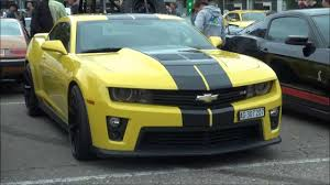 yellow camaro zl1 2013 chevrolet camaro zl1 yellow with black stripes