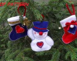 snowmen felt christmas ornaments sewing pattern pdf how to