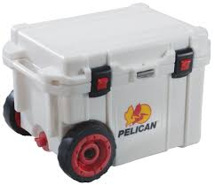 pelican progear cooler with wheels 45 quart white 45qw white