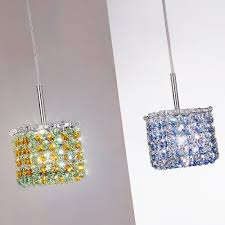 small crystal necklace images Small square multi coloured swarovski crystal pendant light jpg
