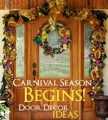 mardi gras home decor party ideas by mardi gras outlet carnival season is here door