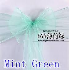 Chair Sashes Wedding Online Shop Mint Green Colour Chair Sashes Crystal Organza Sash