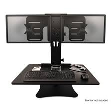 Computer Desk Dual Monitor High Rise Collection Dual Monitor Sit Stand Desk Converter