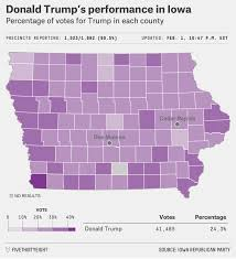 Iowa Map Usa by How Iowa Voted Fivethirtyeight